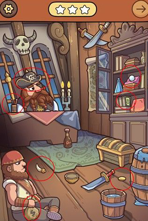 脑洞大侦探海盗船怎么过-海盗船三星通关攻略