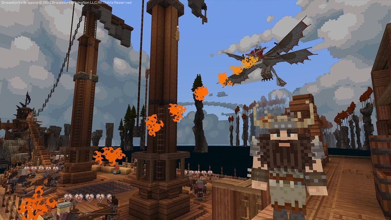 我的世界新DLC《驯龙高手》即日上线博克岛将以方块世界亮相