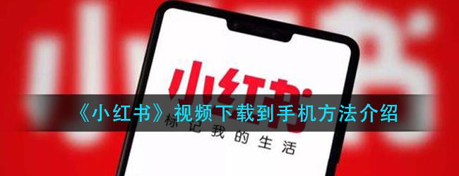 小红书视频怎么下载保存-视频下载到手机方法介绍